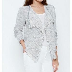 Joie Nalah Waterfall Draped/Fringed Cardigan